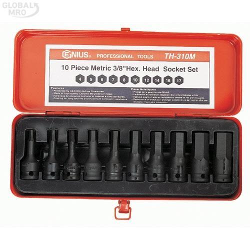 지니어스 임팩트육각비트소켓세트 TH-310S(3/8인치x5/32-5/8)10P 1SET