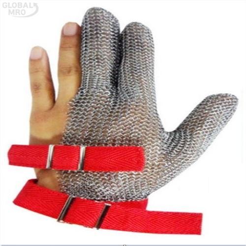 코레카산업 쇠그물장갑 쇠그물장갑(5손)M-적색 /옵션 쇠그물장갑(5손)M-적색 1EA