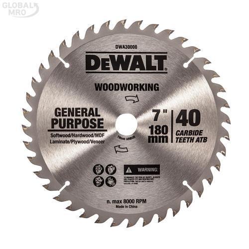 디월트AC 팁쏘(목공용) DWA30000(180x1.2x40T) 1EA