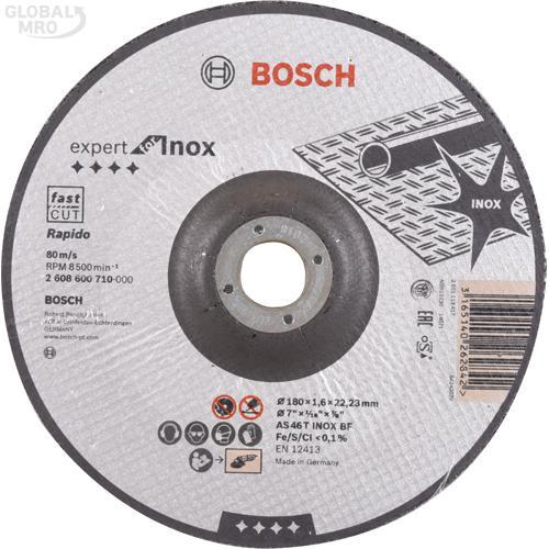 보쉬 AC 절단석(스테인리스) 7인치 (180x1.6x22.2) 710 25EA