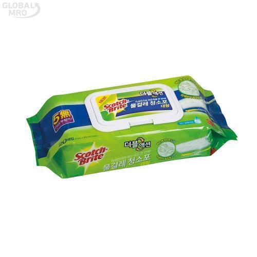 3M 생활용품 청소포 물걸레 청소포 더블액션 대형(20매) 1EA