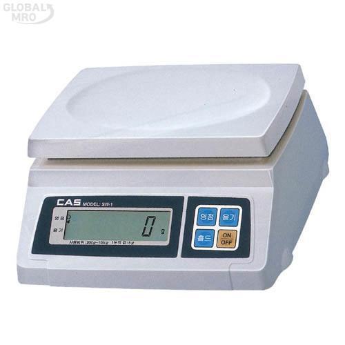 카스 전자저울(단순중량) SW-1S (30kg) 1EA