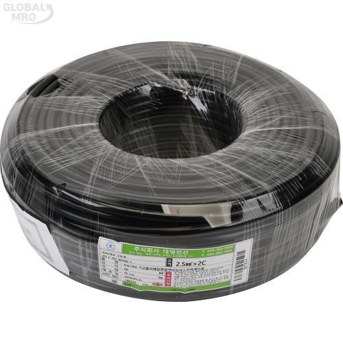 대명전선 비닐외장케이블 2Cx2.5SQ(CV-SV)x70m 1롤