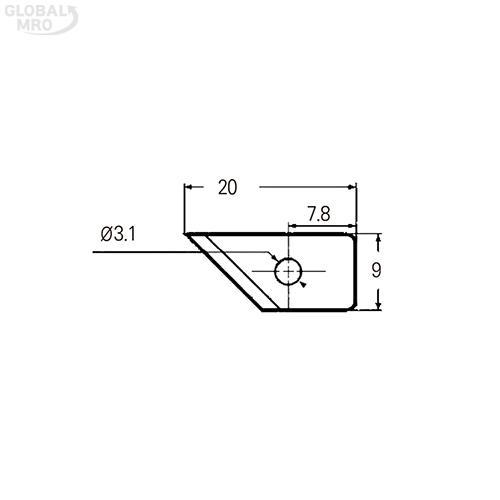 NT 커터칼날 BC-400P /옵션 BC-400P(10매) 1타