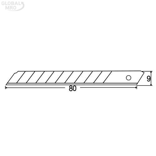 스마토 커터칼 세라믹커터칼날SMCB-09C 24묶음