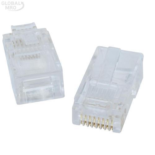 KFT압착기 커넥터RJ45-8P8C(RJ45커넥터)1판10개 1판
