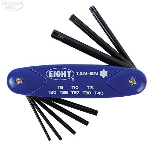 에이트 별렌치세트(접식) TXN8N /옵션 TXN-8N(T8-T40)8P 1SET