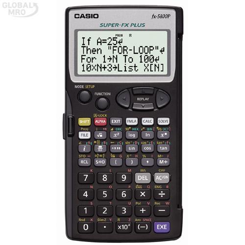 카시오 계산기(공학용) FX-5800P / 1EA