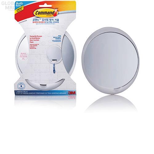 3M 생활용품 욕실용 코맨드 70006900735 / 김서림방지 거울 6EA