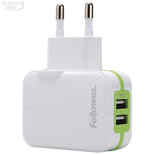 펠로우즈 USB충전기 99272 /옵션 가정용 2포트(그린) 1EA