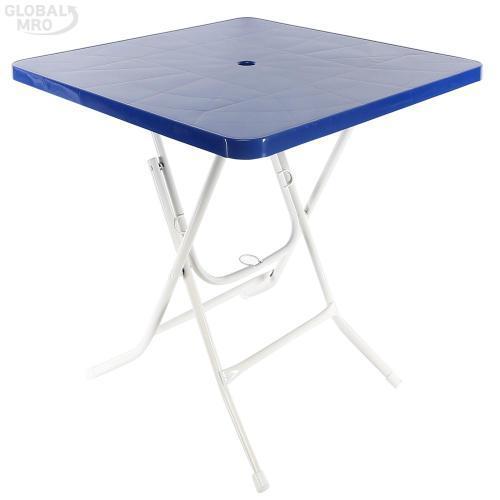 [반품불가] 대승산업 접이식 테이블사각(청색) 1EA