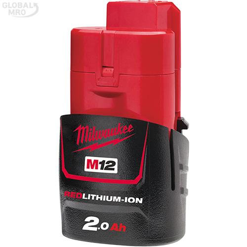 밀워키 배터리 M12 B2 1EA