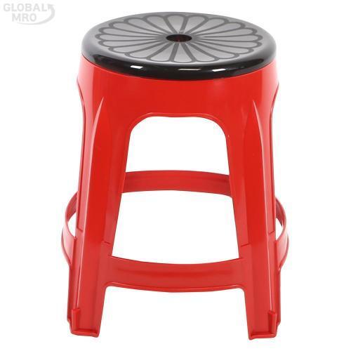 [반품불가] 대승산업 플라스틱 의자회전의자 (적색) 10EA
