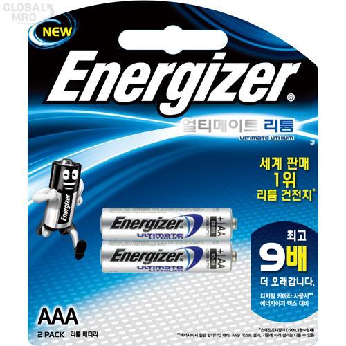 에너자이저 리튬건전지 L92 BP2(AAA) (2EA) /옵션 L92 BP2(AAA) (1판=2EA) 12판