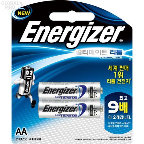 에너자이저 리튬건전지 L91 BP2(AA) (1판=2EA) 12판