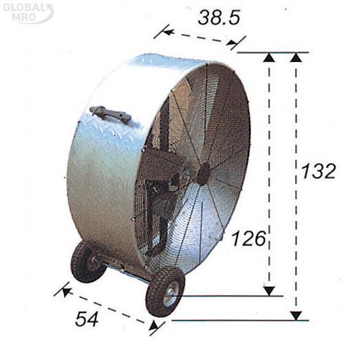 타이거킹 공업용팬 TK-48DD지상용직결형 1EA