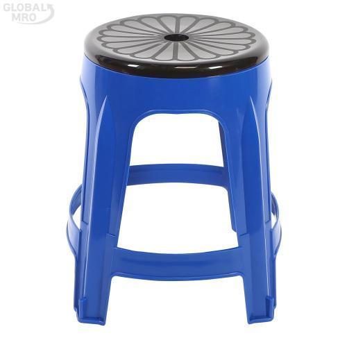 [반품불가] 대승산업 플라스틱 의자회전의자 (청색) 10EA