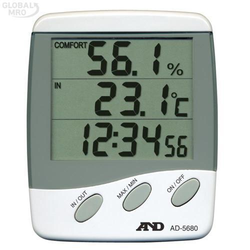 에이앤디 온습도계 AD-5680 (외부센서) 1EA