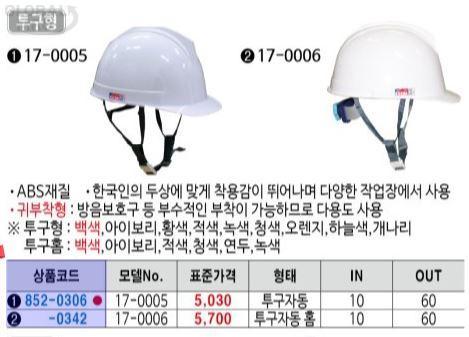 성안세이브 안전모17-0005(=16-0002)투구자동오렌지 10EA